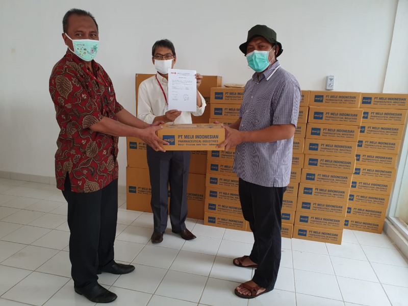 DONATION OF PT. MEIJI INDONESIA IN COMBATING THE COVID-19 OUTBREAK